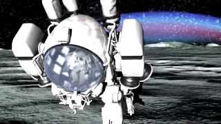 月面のような荒涼とした立方体地球の辺縁